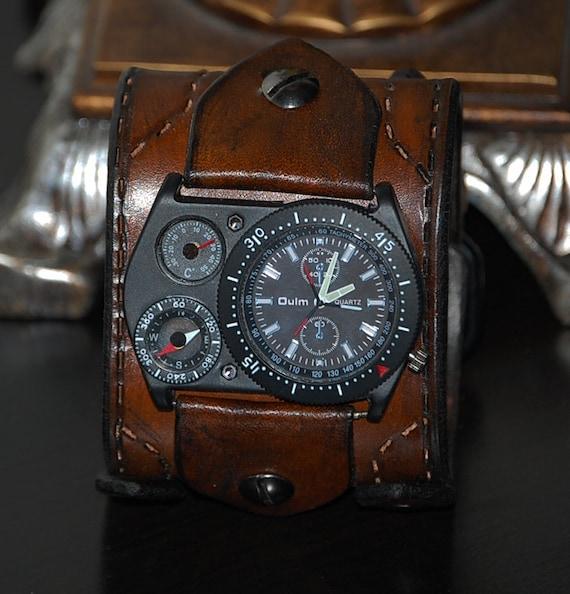 orologio uomo bracciale pelle