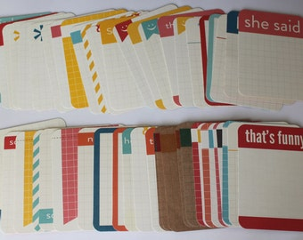 Project Life Kraft Journaling Cards Set of 50