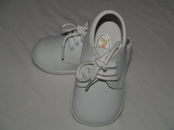 Baby Boy Uni Leather Shoes Vintage White Oxfords Baby