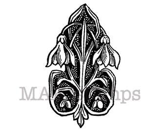 Flourish rubber stamp / Medieval Ornament / Medieval rubber stamp /  (140408)