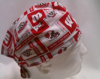 University of Wisconsin Tie Back Surgical Scrub Hat