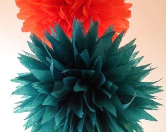 Set of 30 tissue paper pom poms-paper pom poms-tissue pompoms-hanging pom pom-party  poms-wedding decoration-birthday decorations