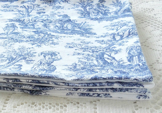 French Country Blue And White Toile Placemats Set Of 4