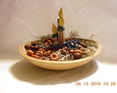 Red White Blue Candle bowl filler