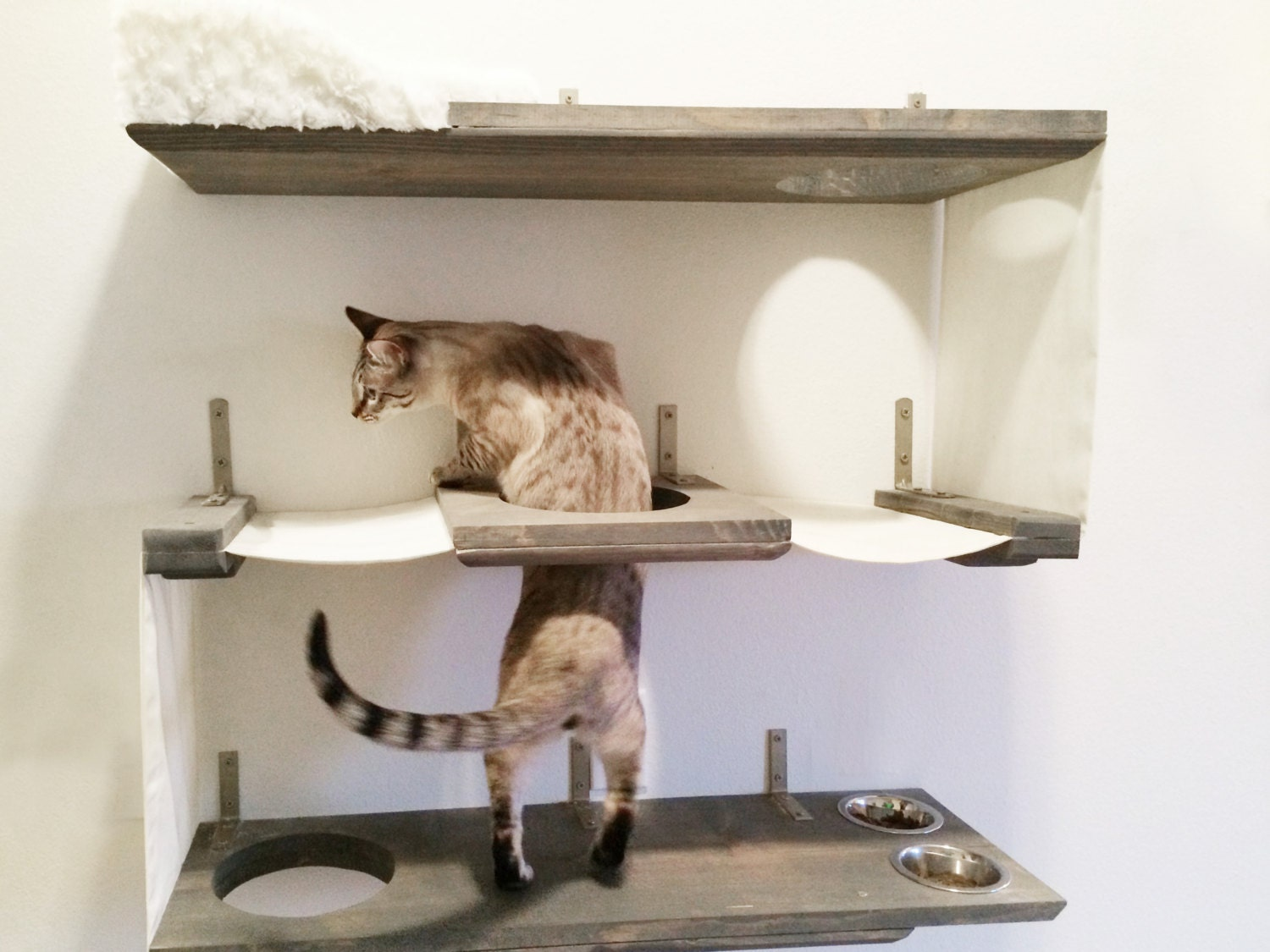 3 level cat bunker cat hammock shelves free us shipping - Sofas para gatos ...