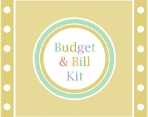 The BUDGET & BILL KIT, printable budget, bill organizer, financial planner, instant download, Spring Home Printables, pdf, Full Size
