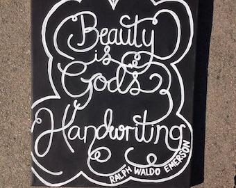"11x14 Canvas ""Beauty is God's Handwriting"""