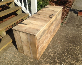 Extra Large Hope Chest | Wooden Trunk | Rustic Chest | wooden Bench