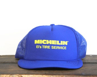 Vintage Michelin Tires El's Tire Service Trucker Hat Snapback Baseball Cap