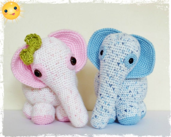 Uncinetto Amigurumi Elefante : Crochet elefante Amigurumi PATTERN unico PDF Download