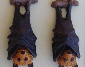 Flying Fox / Fruit Bat Earrings
