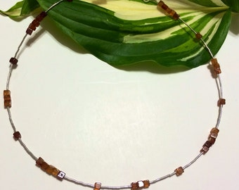 Sterling silver Hessonite Garnet Necklace