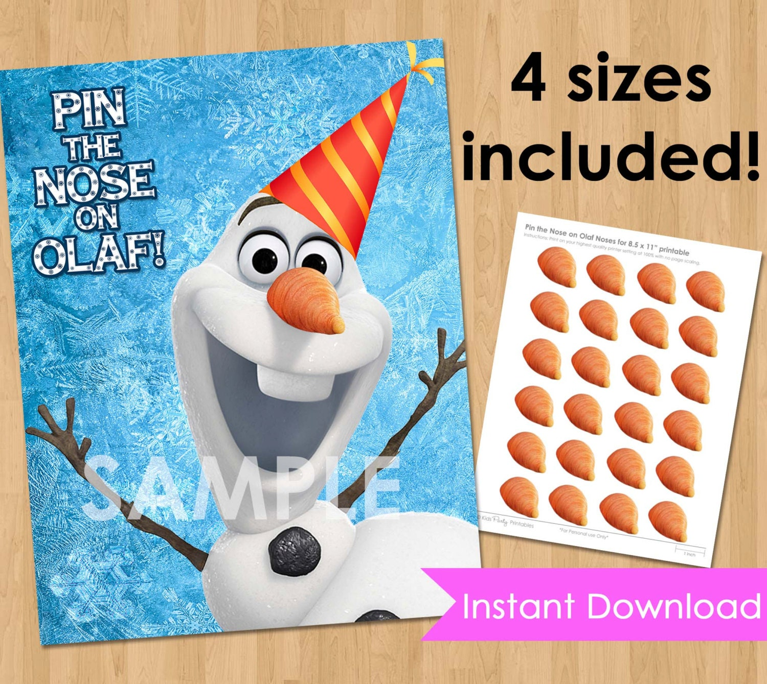 Disney Frozen Birthday Party Printable INSTANT DOWNLOAD Pin