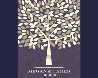 Large Tree for Guest Signatures, Guestbook Alternative Signature Tree, Wedding Tree Signature Poster, Signature Tree with 175 Leaves