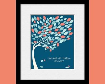 Signature Tree Guestbook, Alternative Wedding Guest Book, Wedding Guest Book, Guestbook Signature Tree, 100 Leaf Signature Tree