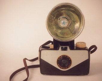 Sawyer's Nomad 127 Camera with Flash circa 1957 (127 film camera, collectible camera, retro, flashbulb, unique camera, lomo)