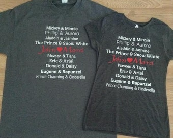Free Shipping for US Disneys Couples Shirts