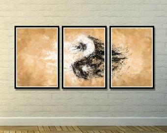 Yin Yang Abstract, Yin Yang Poster, Yin Yang Art, Wall Decor, Home Decoration, Wall Art, Abstract Art, Art Decoration, Living Room Art