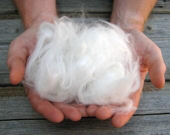 White german angora raw fiber 'clipped'