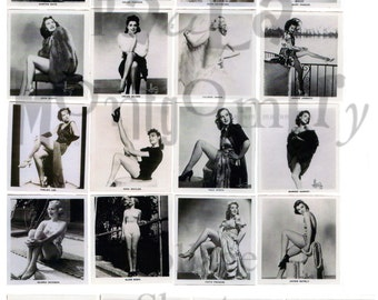 Black and White Glamour Girls Number 1 Digital Download Collage Sheet