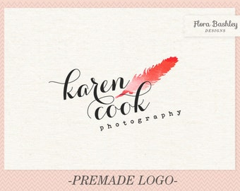 Feather Logo Design Premade Logo and Watermark - FB129