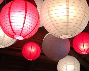 Wedding/Party Lanterns Set of (50) 12-in Hanging Paper Lanterns Choose Your Own Colors