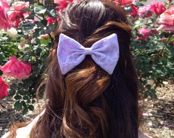 Lavender Lace Bow