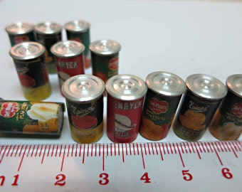 Miniature Can Food Fruit 12PCS