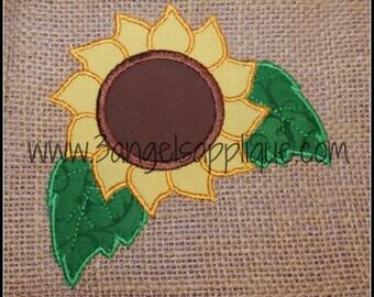 Sunflower Applique Design 3 sizes INSTANT DOWNLOAD
