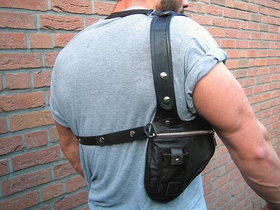 Revolverbag men holster bag men bag halter men leather bag men