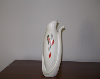 Burgess & Leigh Pottery Vase Abstract Fall Leaves