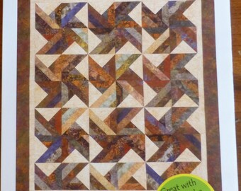 Pattern Tradewinds Designed for Strips  A Cozy Quilt Design, Fast Shipping PT146