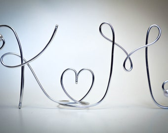 Monogram Wire Wedding Cake Topper