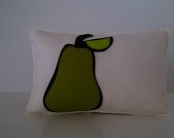 Green pear pillow