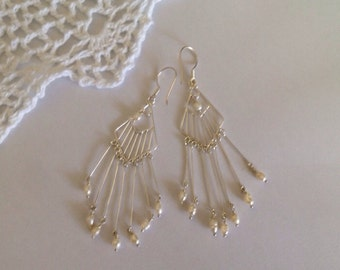 Sterling Silver and Fresh Water Pearl Earrings