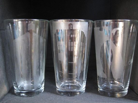 Tardis Beer Glasses