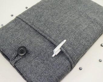Herringbone iPad Air Sleeve Cover, iPad Air Sleeve, iPad Air Cover, Custom Tablet Case, Padded With Pocket
