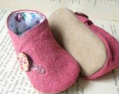 linen baby  shoes/ girl slippers/ summer booties/ organic shoes