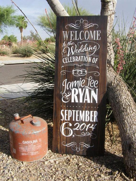 Wedding Chalkboard - Wood Sign