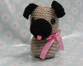 Toy Knitting Pattern PDF Pug The Puppy