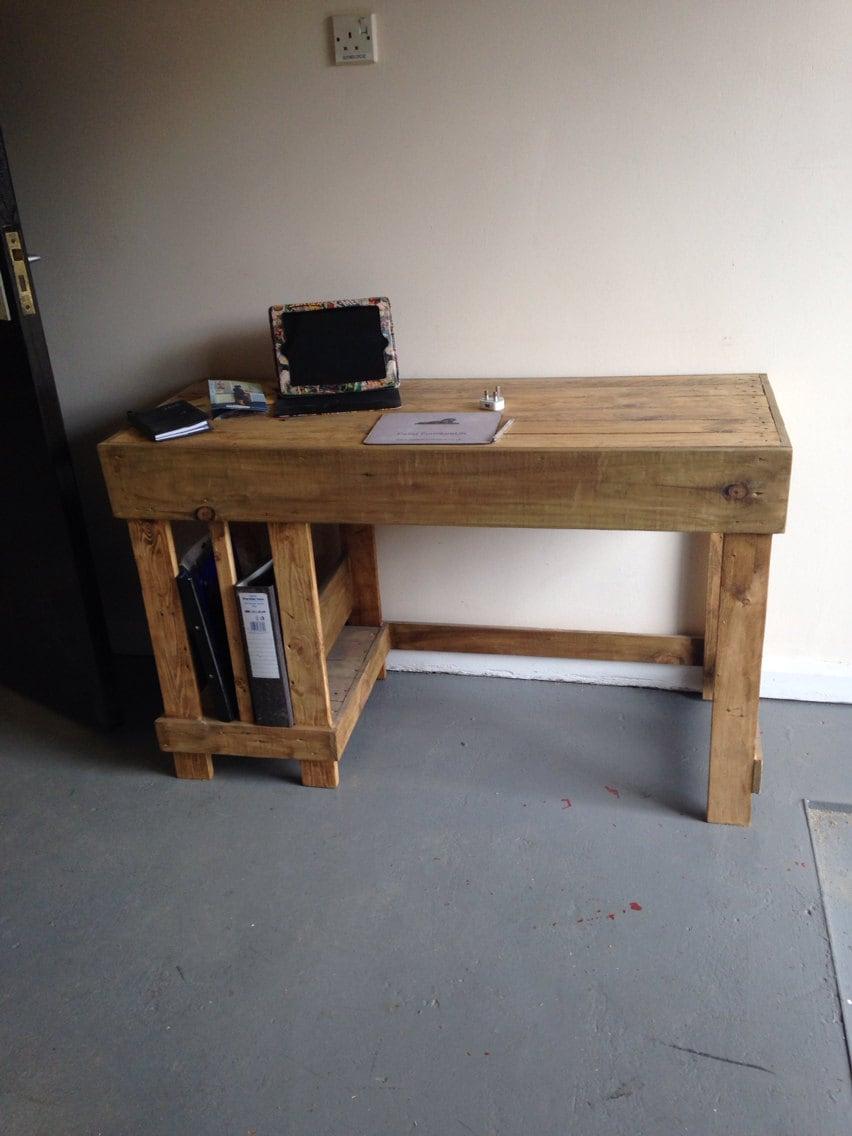 Office desk made from reclaimed wood - Reclaimed wood office desk ...