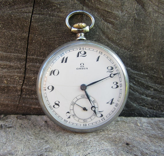 Extrêmement Poche en Suisse rare montre Omega-1930 travail montre de poche QR92