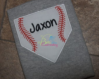 Take me out to the Ball Game Baseball Plate Applique Embroidery Designs Design Monogram