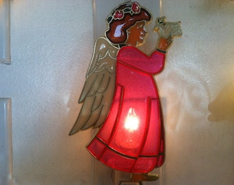 Pink Angel Night Light  4 watt  on/off switch