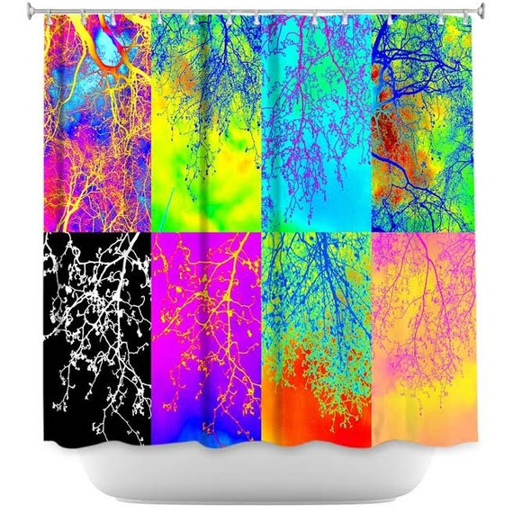 tree of life shower curtain bright shower curtain by suchflair