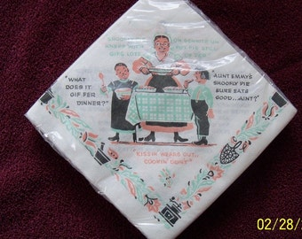 Vintage Aunt Emmy's Shoofly Pie Napkins Recipe New