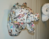 Paper Mache Bear head