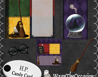 Harry P Wizard Themed Candy Card