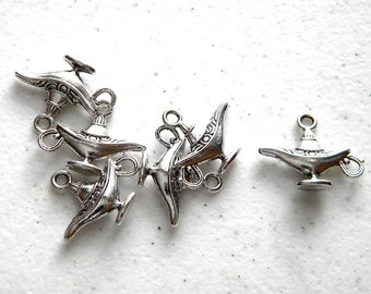 6 Aladdins Lamp Charms  - Genie Charm