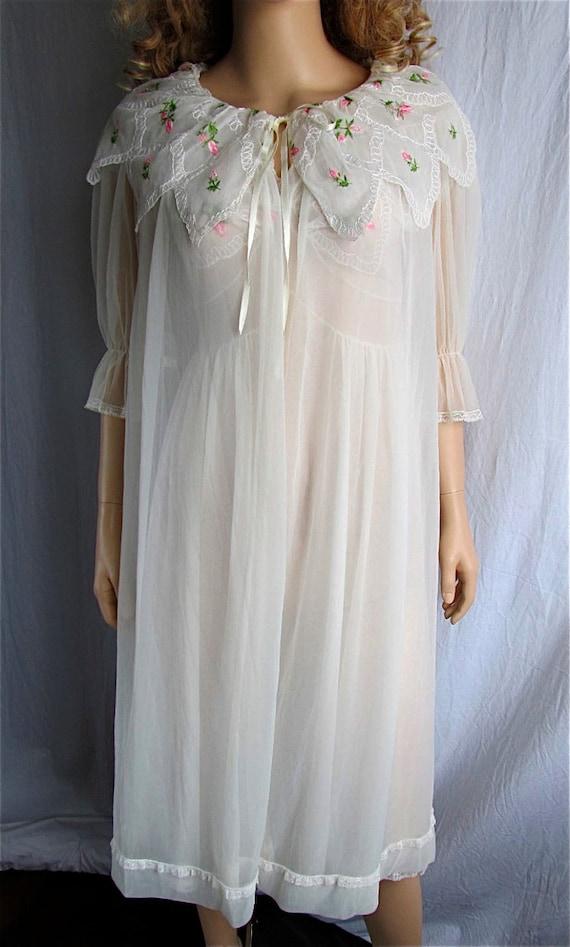 Vintage Peignoir Nightgown Set Bridal Lingerie Honeymoon